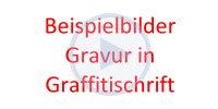 Beispielbilder für ein Kinderbesteck mit Gravur in Graffitischrift