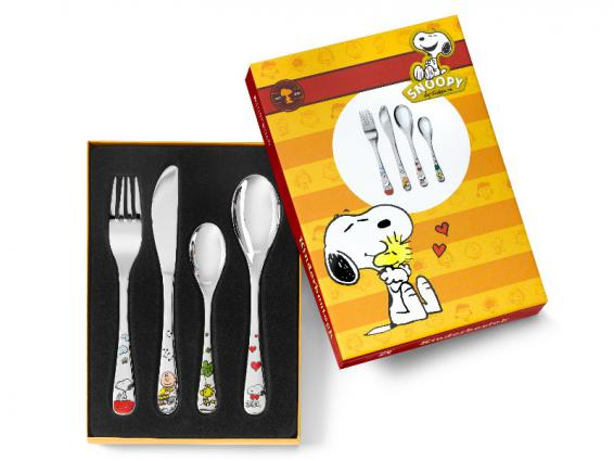 Snoopy farbiges Kinderbesteck 4tlg.